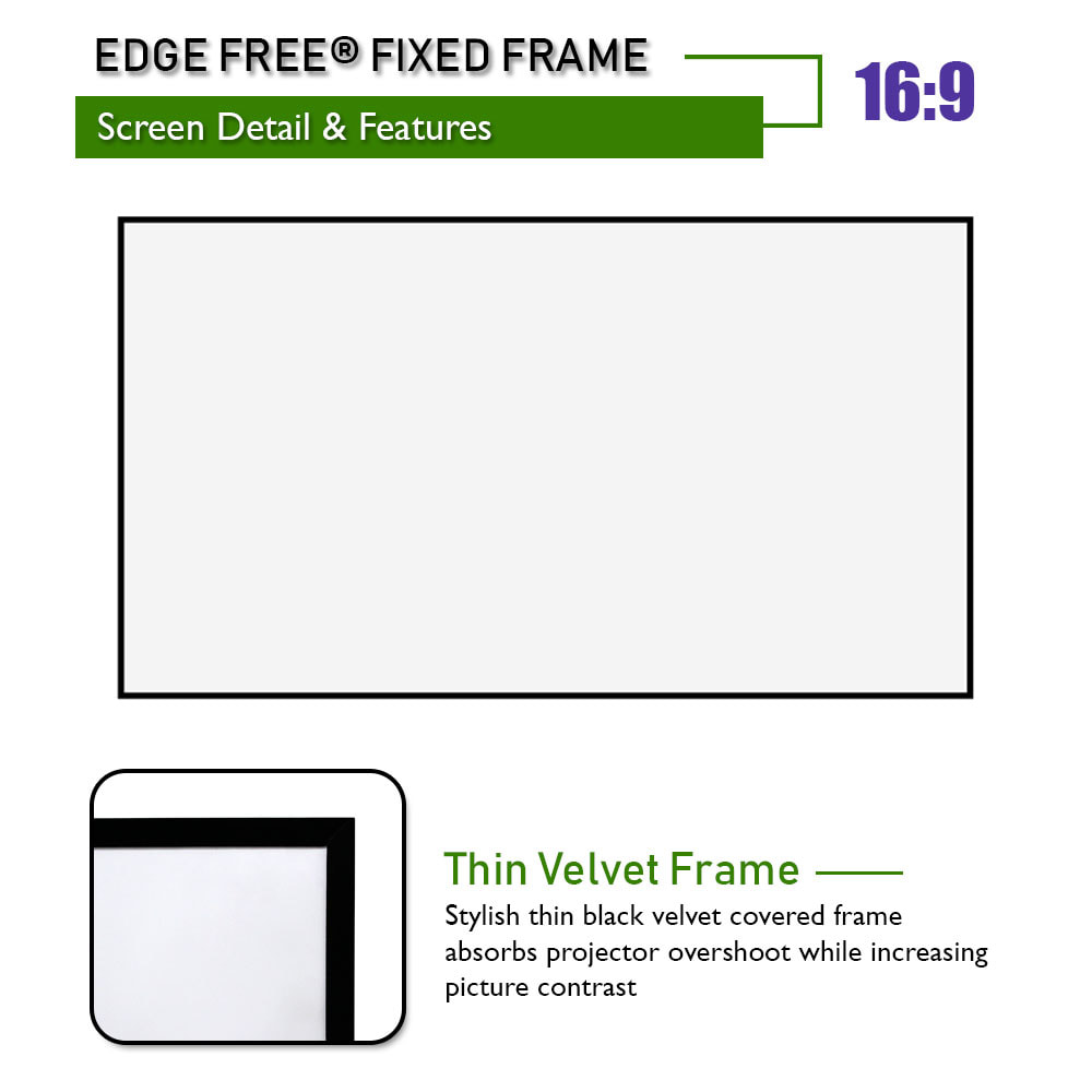 Thin Velvet Screen Frame