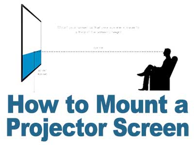 How to mount a projector screens