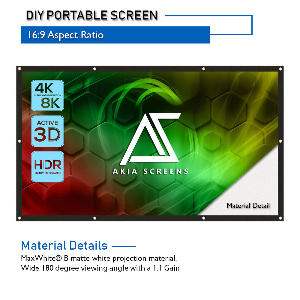 Portable Indoor Outdoor Projector Screen